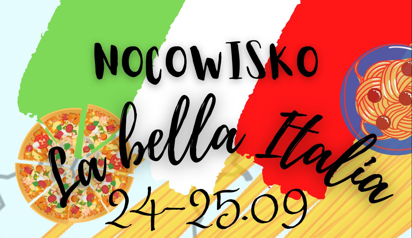 """NOCOWISKO """"La bella Italia"""" – AKCEPTUJEMY BON TURYSTYCZNY"""